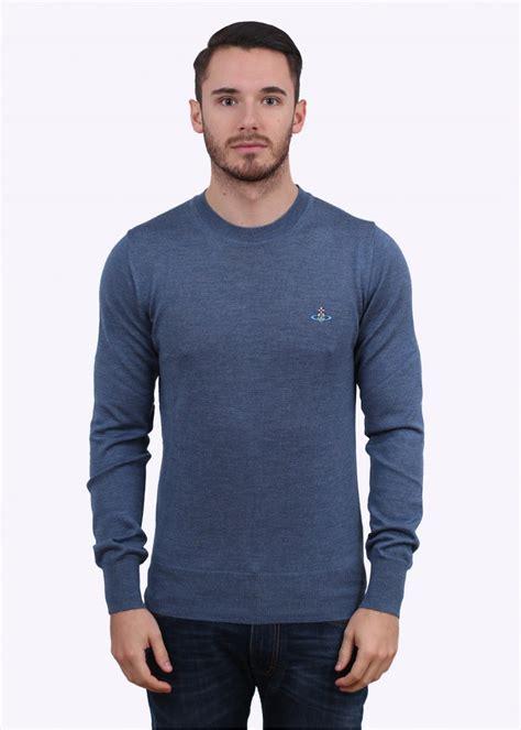 blue knitted jumper mens vivienne westwood mens knitted jumper blue