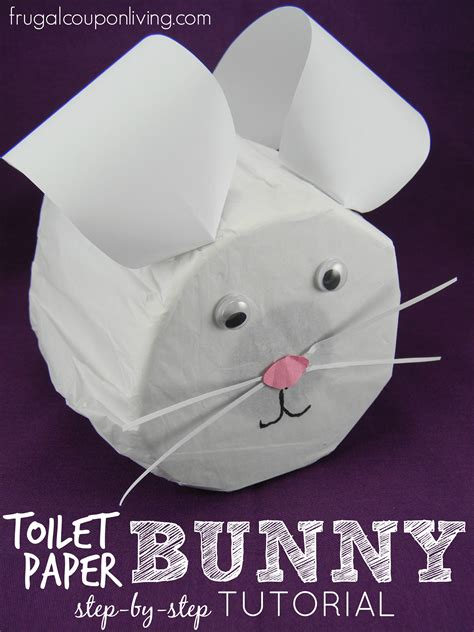 toilet paper easter bunny craft step by step toilet paper bunny tutorial easter craft