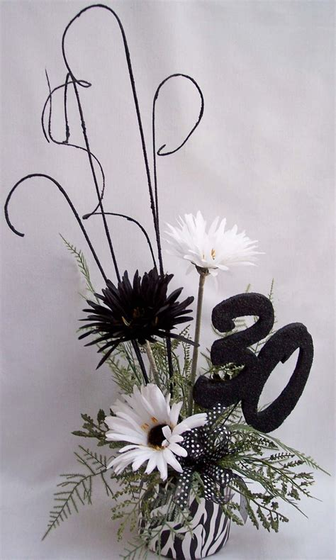 and white centerpieces 25 best ideas about 50th birthday centerpieces on