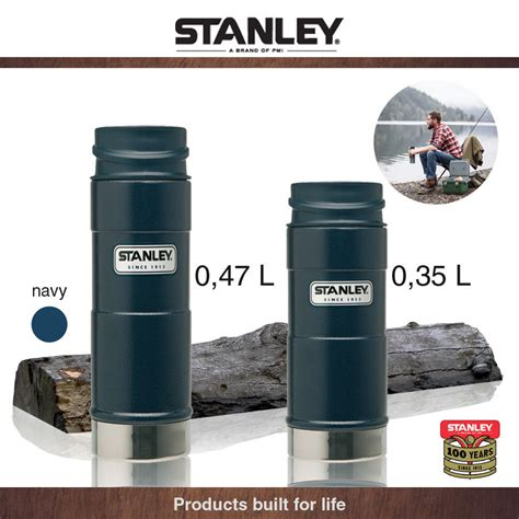 Navy Bathroom Accessories by Stanley Outdoor One Hand Mug Navy 0 35 L Cookfunky