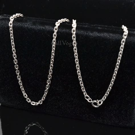 silver chains for jewelry link sterling silver rolo chain necklace callvogue