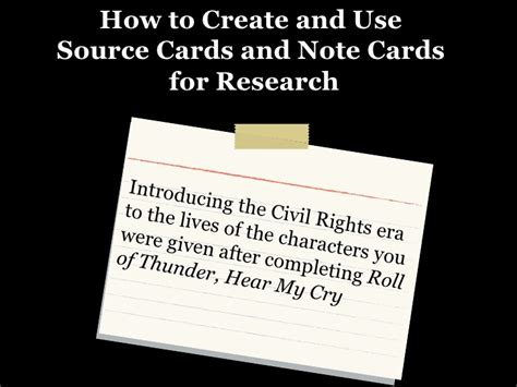 how to make source cards note cards and source cards formal observation 2
