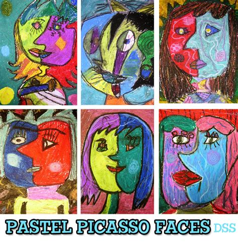 picasso emotion paintings pastel picasso faces lesson space sparkle