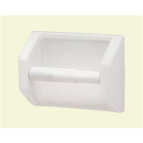 black white toilet paper holder lenape recessed toilet paper holder in white 177201