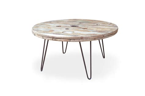 cable coffee table cable reel coffee table with hairpin legs by frances