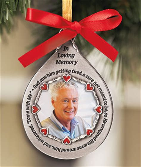 memorial photo ornaments photo memorial ornaments seasonal decor