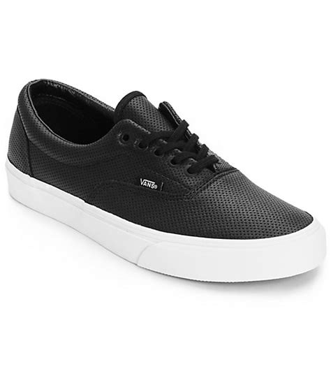 vans era leather vans era perforated leather skate shoes mens at zumiez pdp