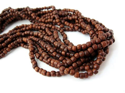 wooden bead brown wood 3mm 200pcs wooden
