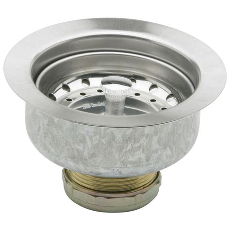 kitchen sink strainers shop elkay dayton 4 4062 in stainless steel stainless