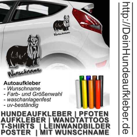 Autoaufkleber Yorkshire by Yorkshire Terrier Aufkleber Auto Wunschname