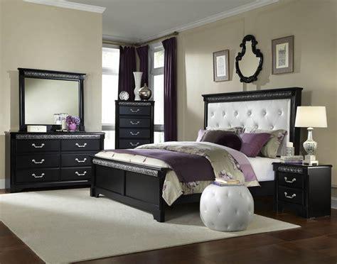 half price bedroom furniture standard furniture venetian black panel bed w upholstered