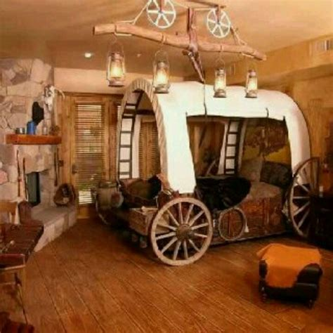 western bedroom designs i would this western themed room the wagon bed