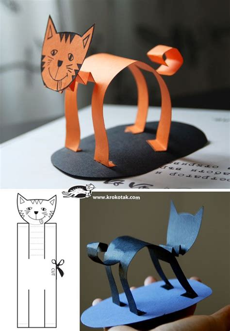 cat paper craft 1000 ideas about paper animals on animal
