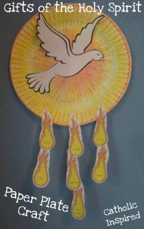 holy spirit crafts for gifts of the holy spirit paper plate craft