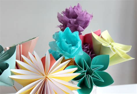 paper craft flowers make a bouquet of beautiful paper flowers for s day