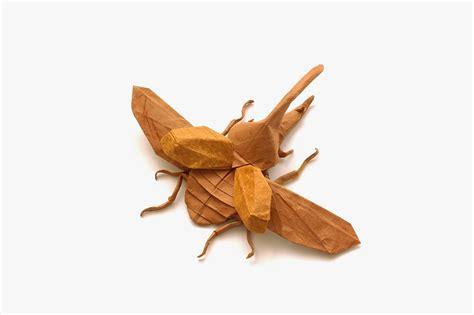 origami hercules beetle this week in origami autumn dinosaur edition