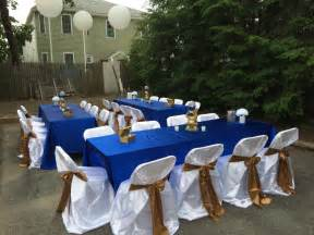 blue and gold decorations simple table decor royal blue gold and white royal