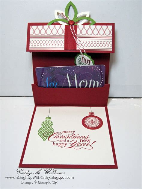 gift card holders to make inking it up with cathy gift card holders part four