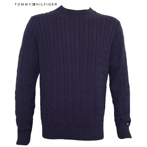 cable knit jumper hilfiger jumper cable knit navy