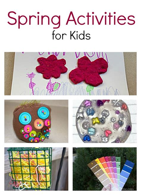 craft activities for five activities for my me