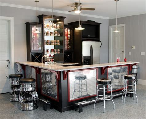 Kitchen Cabinets Raleigh hill residence garage bar
