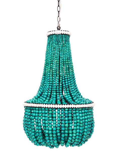 turquoise beaded chandelier turquoise wood bead chandelier light fixtures design ideas