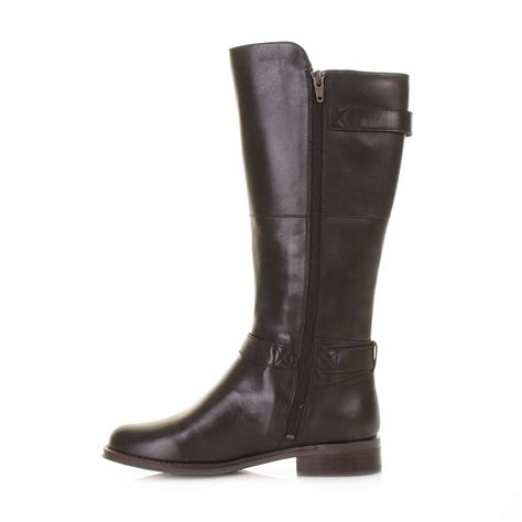 leather knee high boots for womens clarks mara vale black leather gtx knee high boots size 3 8 ebay