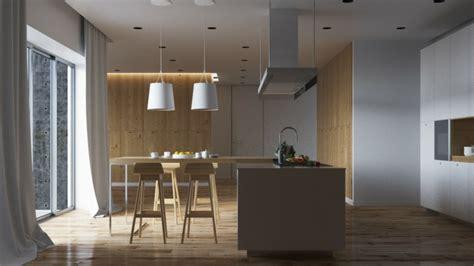 Wooden Kitchen Island Table meuble s 233 paration cuisine salon en plus de 55 id 233 es