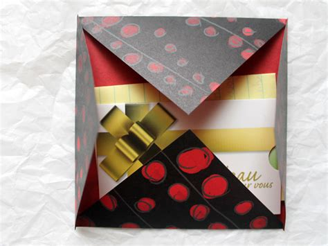 gift card origami origami envelope for gift wrapping and mailing gift card