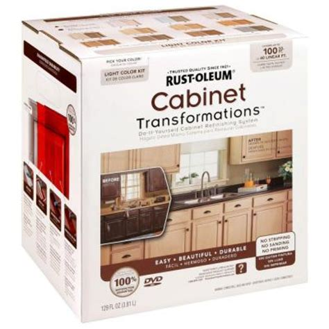 home depot cabinet paint kit rust oleum transformations light color cabinet kit 9