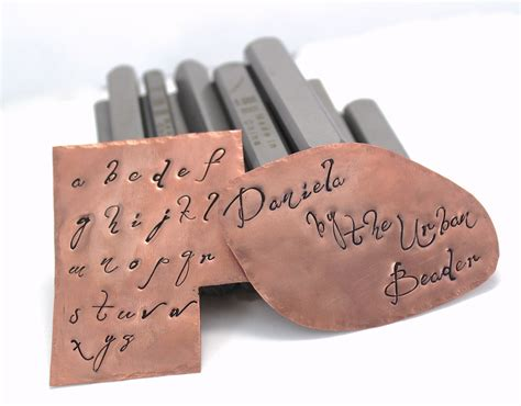 metal alphabet sts for jewelry daniela font lowercase alphabet set for jewelry sting
