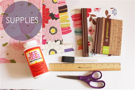 decoupage supplies decoupaged notebook how to thesassylife