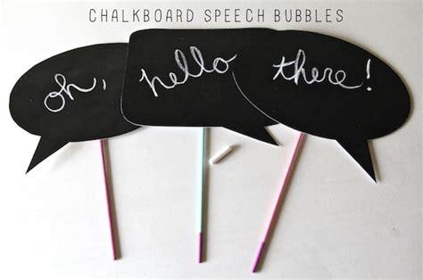 diy chalkboard speech diy chalkboard photo props and we play diy for