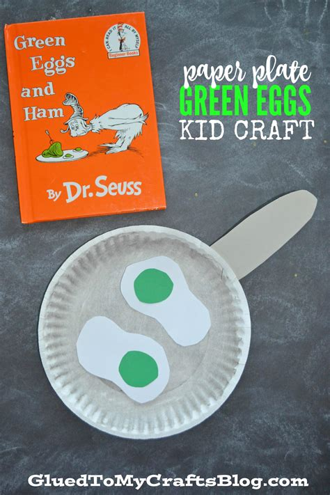 green crafts paper plate dr seuss green eggs kid craft glued to my