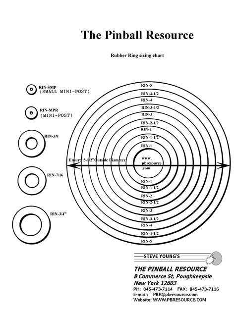 rubber st size guide pinball rubber ring size chart