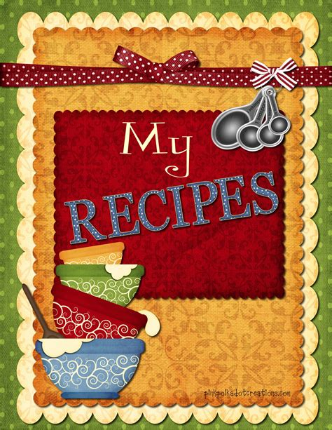 pictures of recipe books recipe book dividers pink polka dot creations