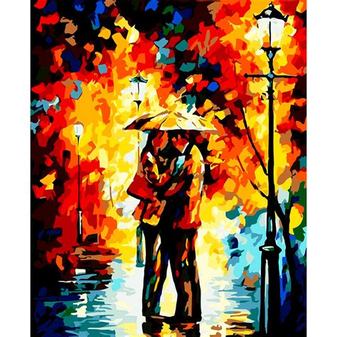 acrylic house paint on canvas aliexpress buy frameless landscape diy painting by