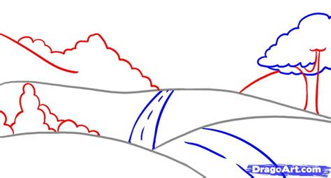 landscapes to draw how to draw a landscape step by step other landmarks