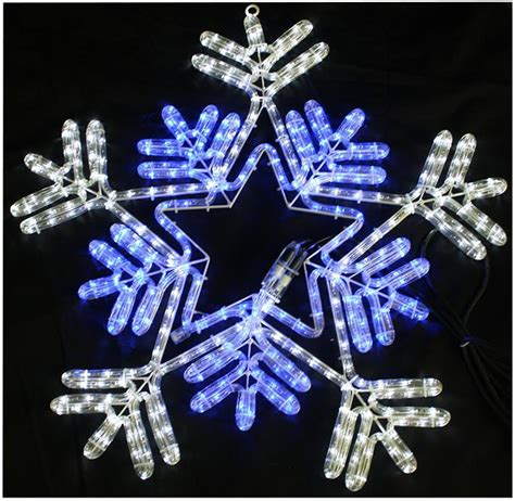 snowflake lights indoor 65cm blue white led snowflake rope light lights