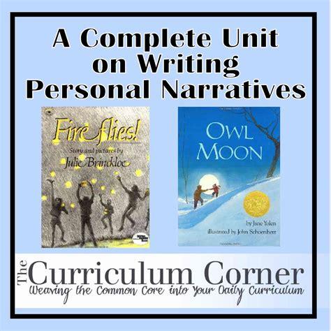 personal narrative picture books personal narratives the curriculum corner 123
