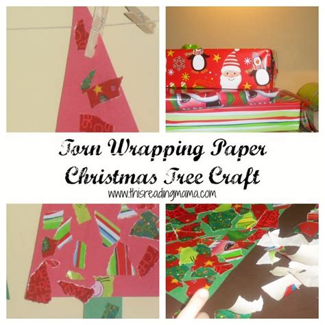 wrapping paper craft torn wrapping paper trees