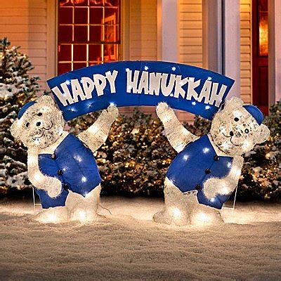 hanukkah outdoor decorations outdoor lawn inflatables lights and decorations for