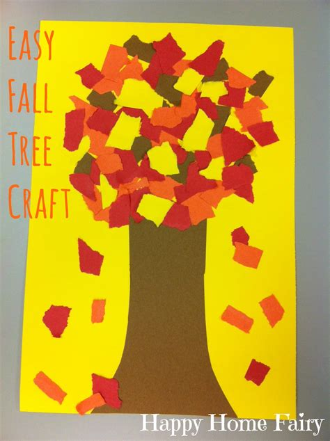 fall crafts to do with easy fall tree craft happy home
