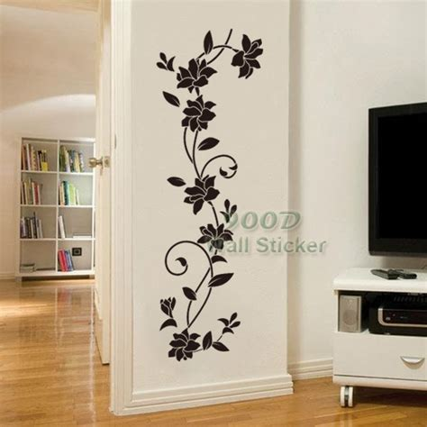 home stickers for walls flower vine wall sticker diy home decoration removable