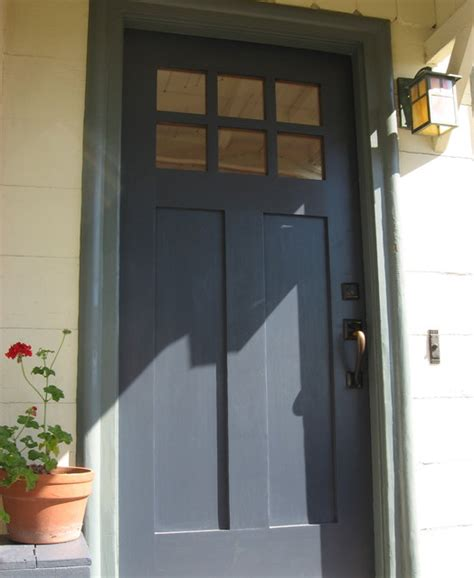 Navy Blue Front Door   Porch   San Francisco   by Green Plum Design House Painting