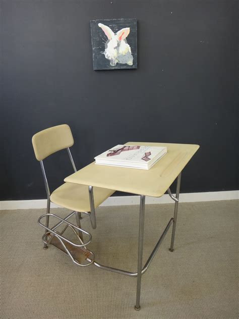 Vintage School Desk Chair Combo by Vintage Heywood Wakefield School Desk Chair Combo 50