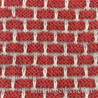 how to knit 2 colors together knit together two color bricks pattern knitting pattern