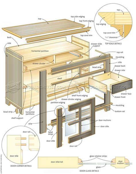 sideboard woodworking plans glazed sideboard plans woodarchivist