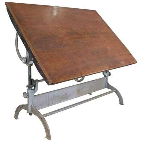 drafting table antique antique industrial cast iron adjustable drafting table at
