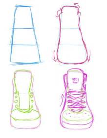 Sneakers Front View Guide By Yummytomatoes Drawing